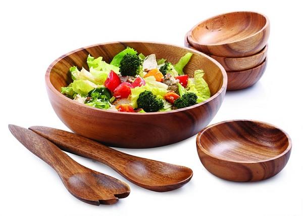 桑梧洋槐钵碗采菲律宾洋槐木材质,适合盛装沙拉或南洋料理.