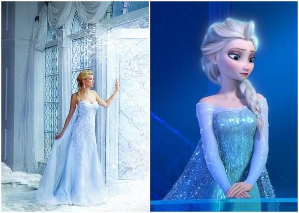 迪士尼公主系列婚纱,我结婚要穿艾莎的!