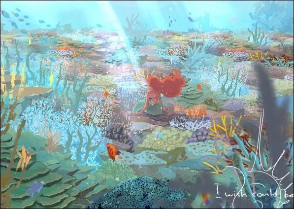 19幅超唯美迪士尼系列水彩画