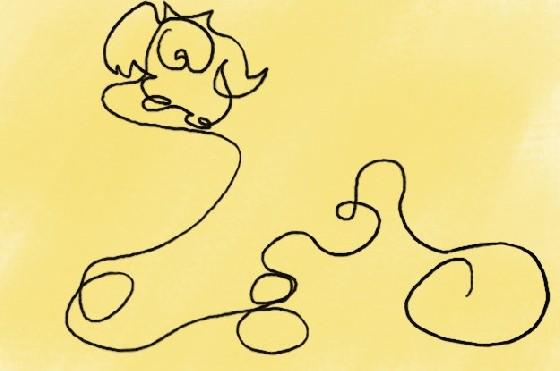 青蛙睡觉的小动物简笔画