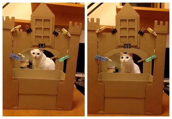 纸箱手工制作大全图解 城堡步骤