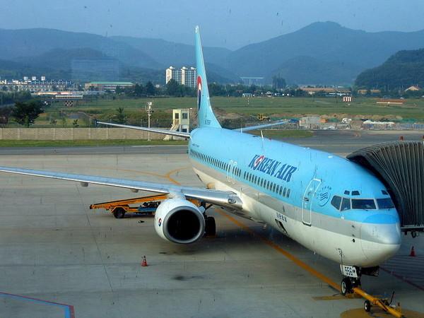 10月25日起的飞机「升级」计画,适用於傍晚由首尔,台北起飞的ke693,ke