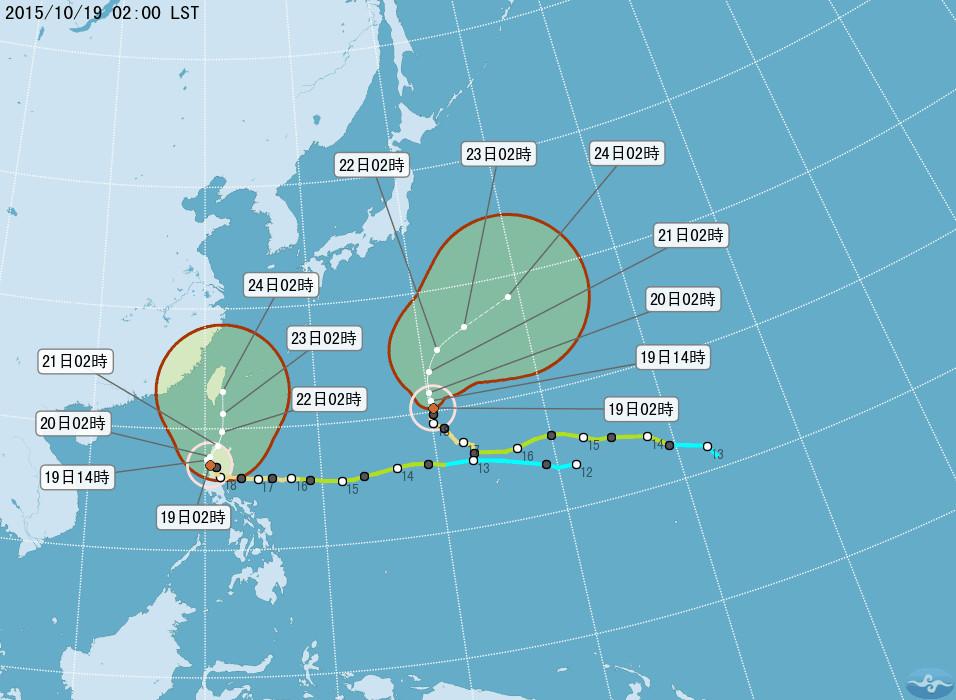 根据气象局最新台风消息,巨爵昨天登陆菲律宾吕宋岛后,强度持续减弱