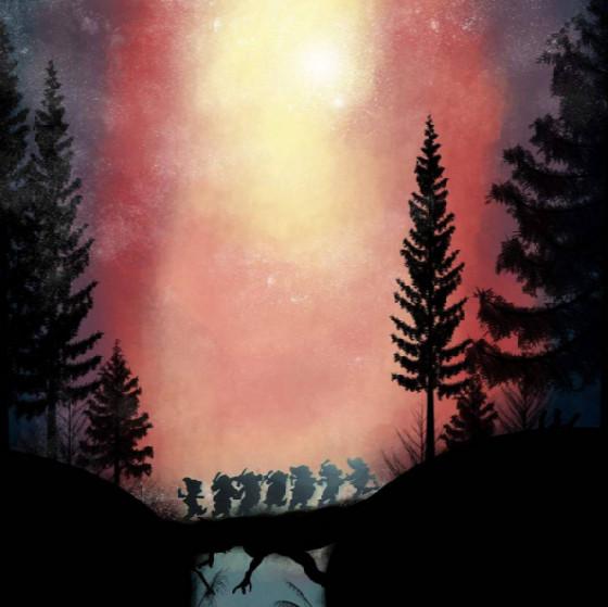 迪士尼人物在星空下的梦幻剪影 美到舍不得眨眼!