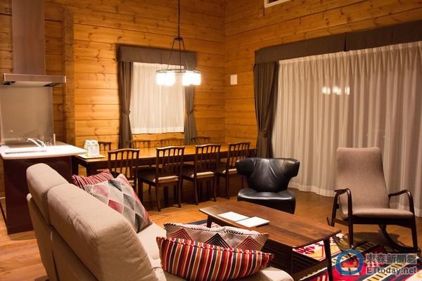 近代传统中国木屋内部客厅