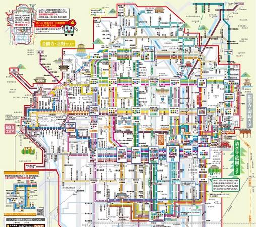 以下是「市巴士与地下铁观光路线图」.