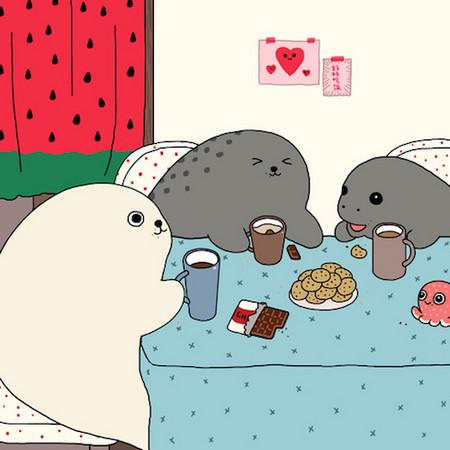 比糯米团子更软萌 疗愈系小海豹的异想日记
