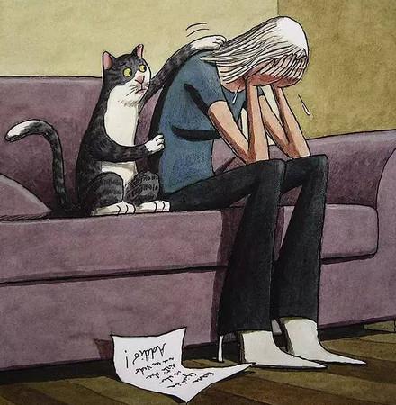 插画显示当动物有了人性