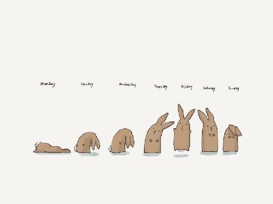 小萌兔的生活哲学!插画「小兔子大世界」让你会心一笑