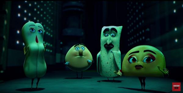 食材们的大逃亡 限制级动画电影 香肠派对 预告释出