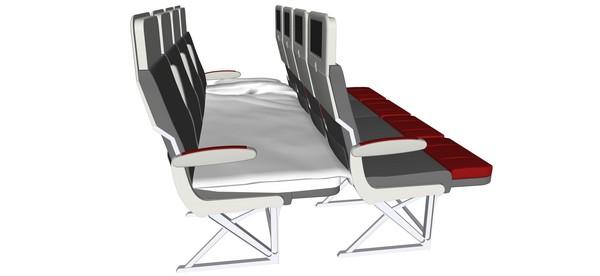 义大利座椅制造商geven为解决长期以来旅客们的需求,设计了一款将飞机