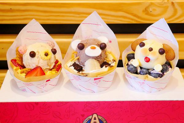 让少女心融化!台中动物造型冰淇淋可丽饼