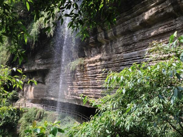 位在嘉义梅山乡瑞里风景区内的青年岭步道串联情人吊桥,燕子崖,千年蝙