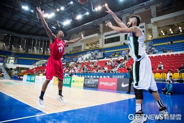 ▲▼瓊斯盃男籃,加拿大對伊拉克,加拿大4號 海伍德。(圖/記者季相儒攝)