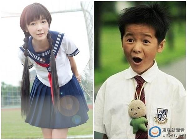 2013年08月6日 13:13 大陆童星徐娇曾在电影《长江七号》中,反串饰演图片