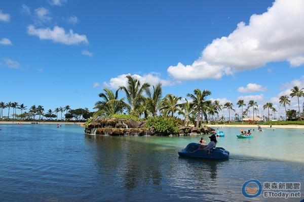 夏威夷海水「孤岛游泳池」