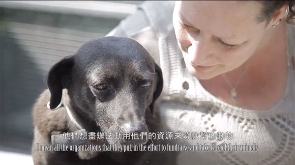 台湾动物协会外籍志工丽莎点出几项台湾流浪动物问题的重点给大家听