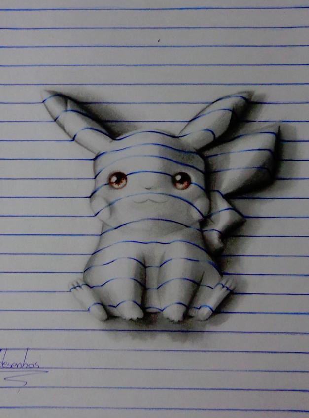 巴西15岁少年的3d立体画