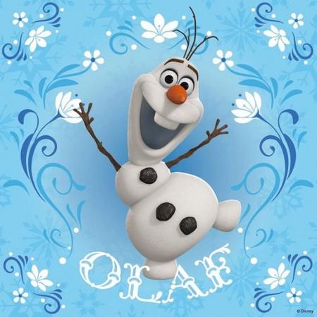 《冰雪奇缘》中象徵艾莎与安娜两人姊妹情谊的雪人