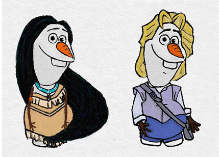 雪宝大举入侵迪士尼公主与王子的世界