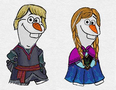 冰雪奇缘》 雪宝大举入侵迪士尼公主与王子的世界