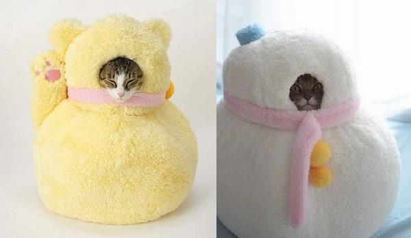 让宠物有穿上布偶装一样的效果的宠物床