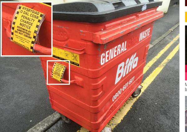 英国一「辆」垃圾桶,因为违停在双黄线上