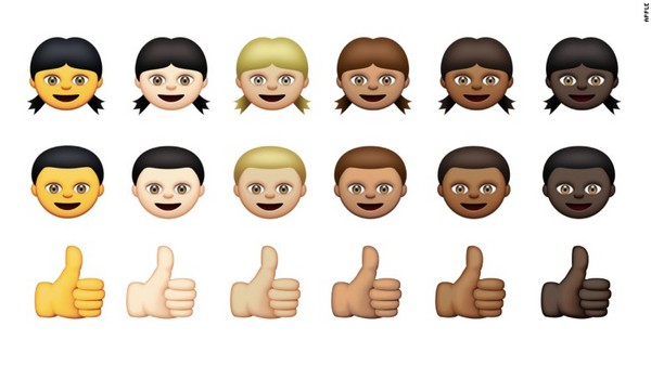 苹果表情符号政治正确 推6种肤色供选择,国旗数增加图片