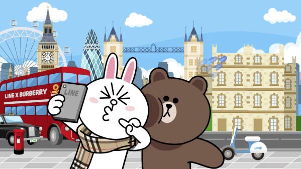 熊大围上burberry耍甜蜜