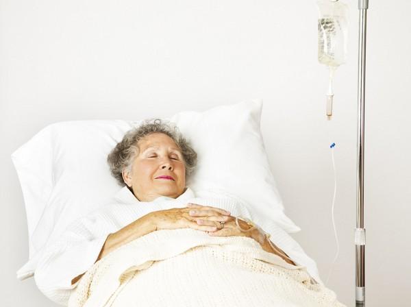 病床,老人,住院。(圖/達志/示意圖)