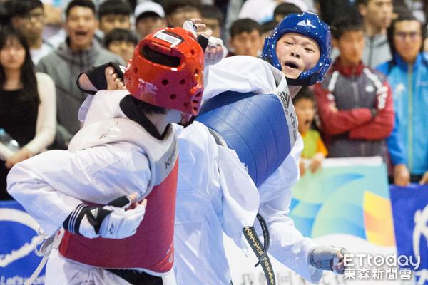 全大運,跆拳道,莊佳佳(圖/記者季相儒攝)