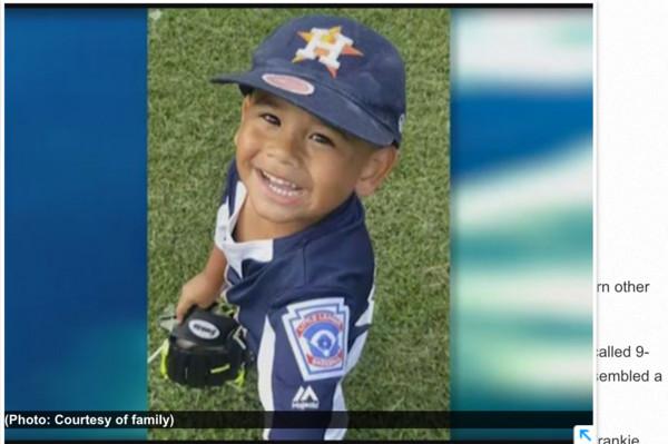 ▲美國德州4歲的男童法蘭奇(Frankie Delgado)游泳一週後死於「乾溺水」。(圖/取自khou.com)