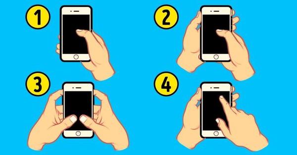▲4種滑手機方式看個性。(圖/翻攝自國外網站《Bright Side》)