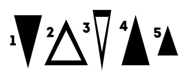 ▲從你選擇的三角形就可以看穿真實個性。(圖/翻攝自國外網站《Bright Side》)